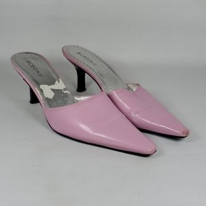 BCBGIRLS Light Purple Slip On Heels